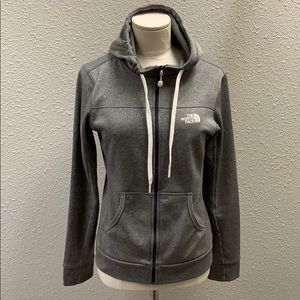 The North Face gray zip hoodie XS